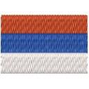 Flagge Serbien mini