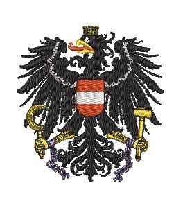 Wappen Adler Österreich mit ketten