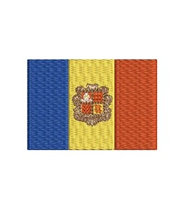 Flaggge Andorra midi