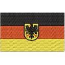 Flagge Deutschland mit Wappen midi