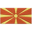 Flagge Mazedinien midi