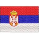 Flagge Serbien midi