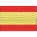 Flagge Spanien midi