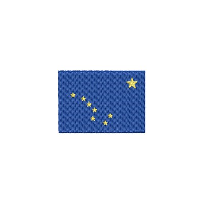 Aufnäher Flagge Alaska midi