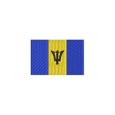 Aufnäher Flagge Barbados midi