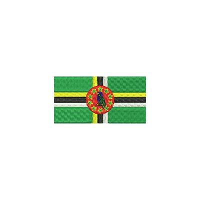 Aufnäher Flagge Dominica midi