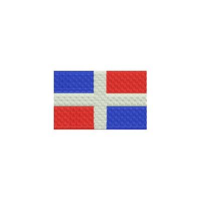 Aufnäher Flagge Dominica Republic midi