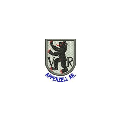 Aufnäher Wappen Appenzell Au. min mit Name