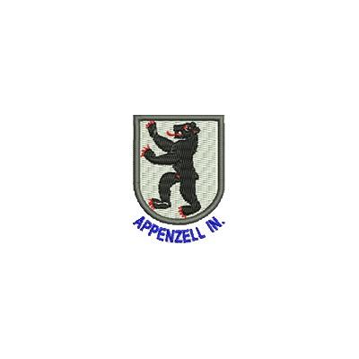 Aufnäher Wappen Appenzell In. mini mit Name