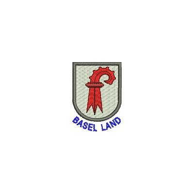 Aufnäher Wappen Basel Land mini mit Name