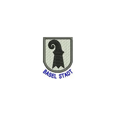 Aufnäher Wappen Basel Stadt mini mit Name