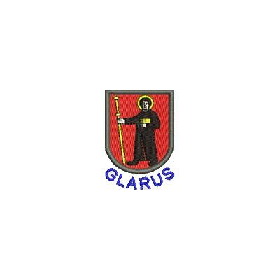 Aufnäher Wappen Glarus mini mit Name