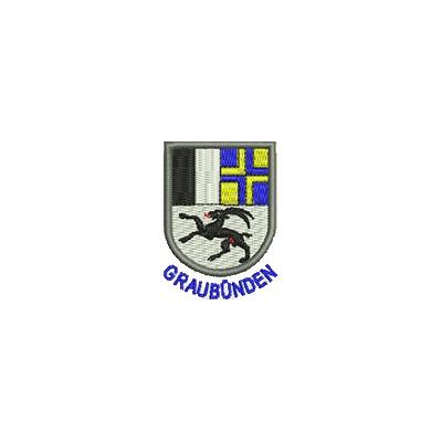 Aufnäher Wappen Graubünden mini mit Name
