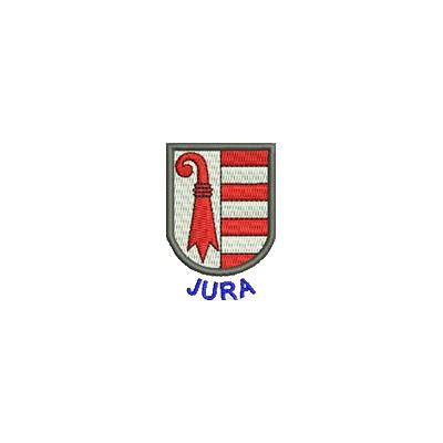 Aufnäher Wappen Jura mini mit Name