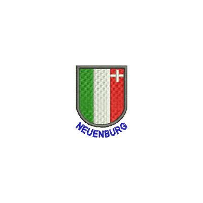 Aufnäher Wappen Neuenburg mini mit Name
