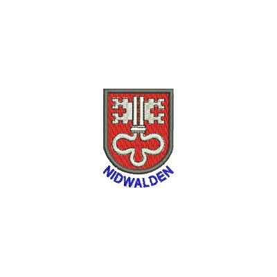Aufnäher Wappen Nidwalden mini mit Name