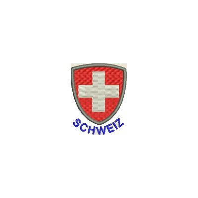 Aufnäher Wappen Schweiz mini mit Name