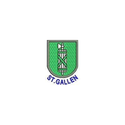 Aufnäher Wappen St. Gallen mini mit Name