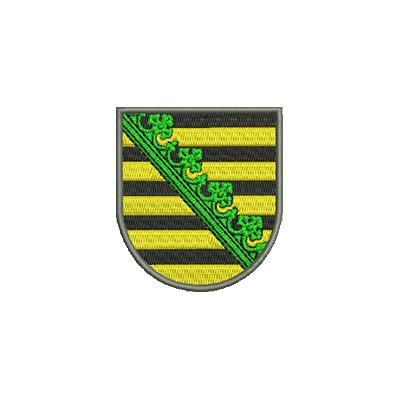 Aufnäher Wappen Freistaat Sachsen midi