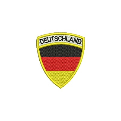 Aufnäher Wappen DE Format Schild midi