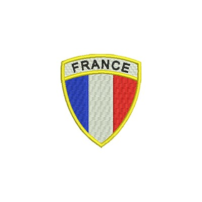 Aufnäher Wappen France Format Schild midi
