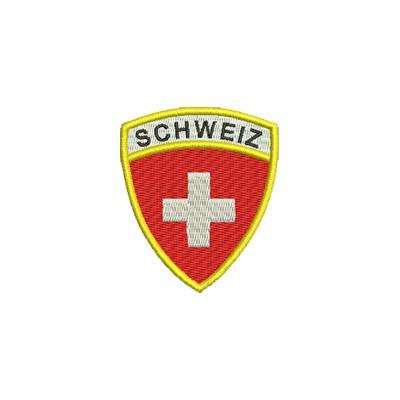 Aufnäher Wappen Schweiz Format Schild midi