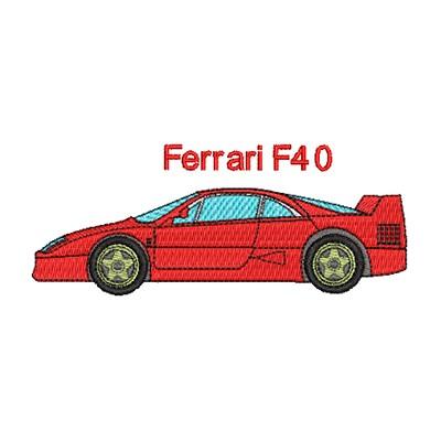 Aufnäher Ferrari F40 midi
