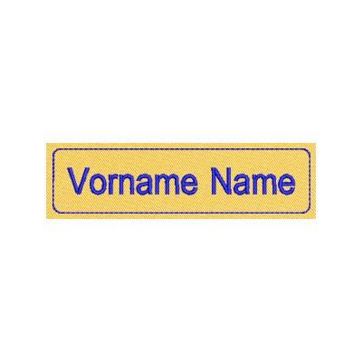 Aufnäher Namens Etikette 2
