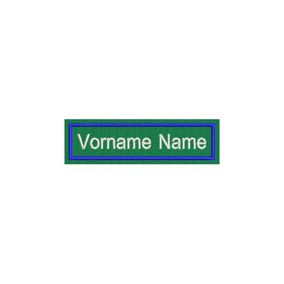 Aufnäher Namens Etikette 3