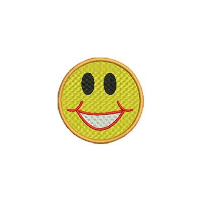 Aufnäher Smiley 3 midi