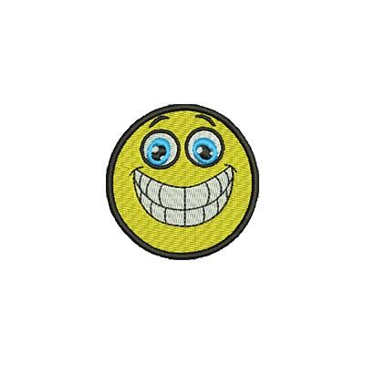 Aufnäher Smiley 5 midi