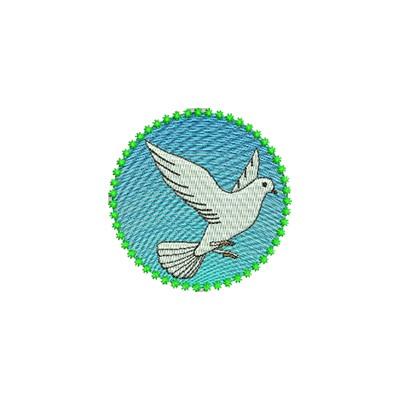 Aufnäher Friedens Taube midi