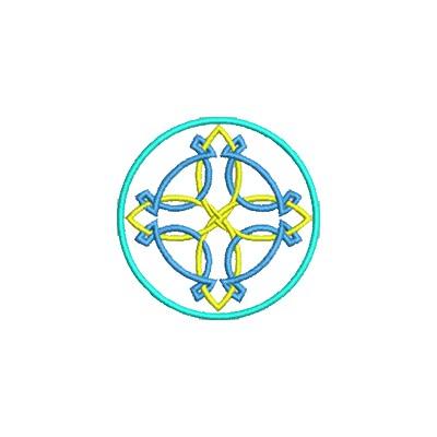 Aufnäher Keltisches Kreuz midi
