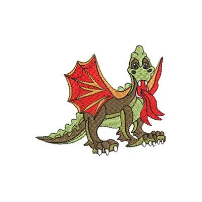 Aufnäher Drache Dinosaurier midi