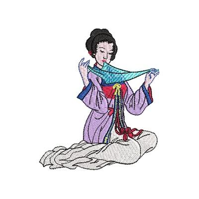 Aufnäher Geisha midi