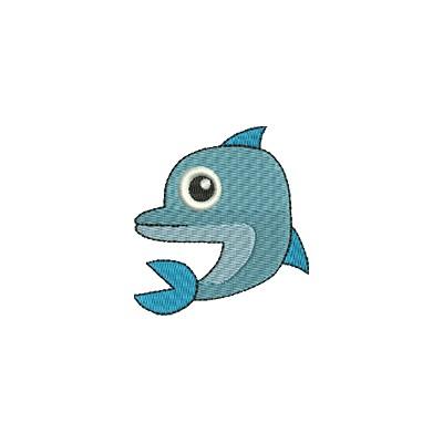 Aufnäher Delphin midi