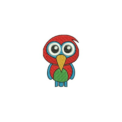 Aufnäher Papagei midi