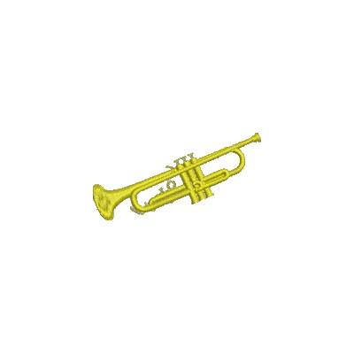 Aufnäher Trompete midi