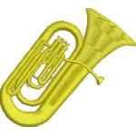 Aufnäher Tuba midi