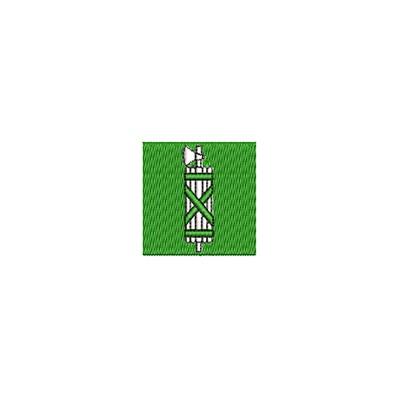 Aufnäher Flagge Sankt Gallen mini