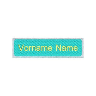 NAMENS ETIKETTE 1 MIT KLETTBAND