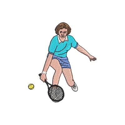 Aufnäher Tennisspiel 1