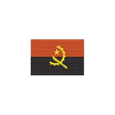 Aufnäher Flagge Angola midi