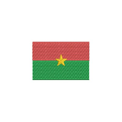 Aufnäher Flagge Burkina Faso midi