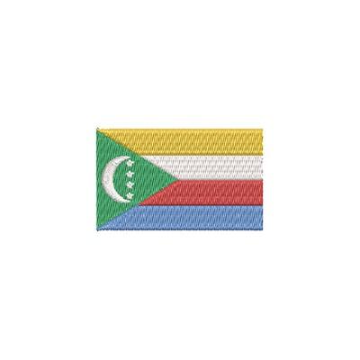Aufnäher Flagge Comoros Inseln midi