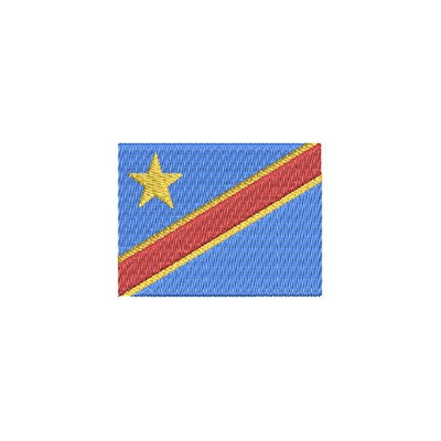 Aufnäher Flagge Rep. Kongo midi