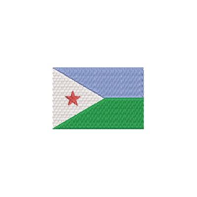 Aufnäher Flagge Djibuti midi