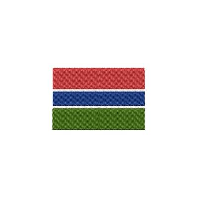 Aufnäher Flagge Gambia midi
