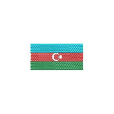 Aufnäher Flagge Adserbaidschan midi