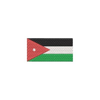 Aufnäher Flagge Jordanie midi